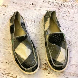 Sanuk cotton with metallic threading loafer 9
